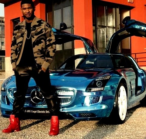 Usher and his Mercedes SLS AMGwww.DiscoverLavish.com