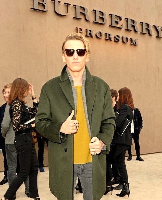 Jamie Bower Wearing Burberry