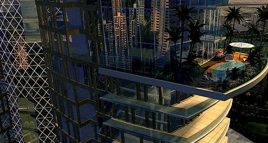 High Rise Luxury Condo with huge balcony