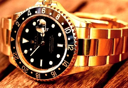 Black and Gold Rolex