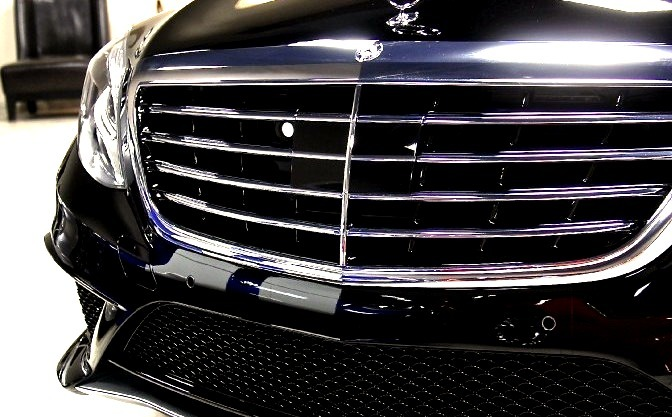 Front of A S Class Mercedes Grill