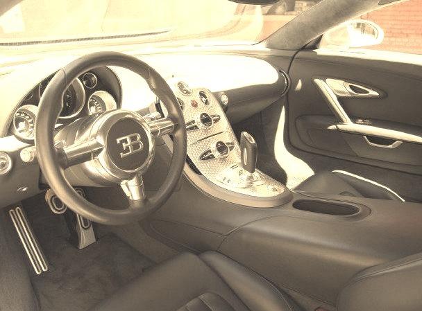 Inside of a Bugatti