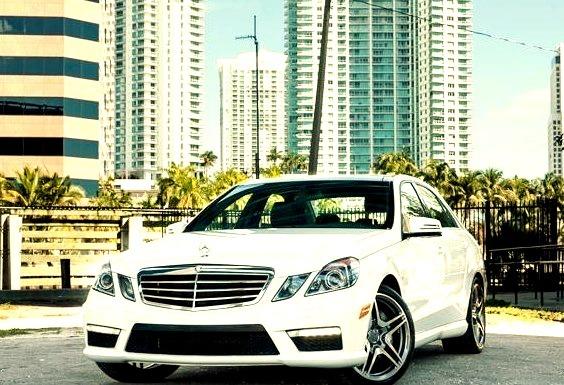 White Mercedes E Class