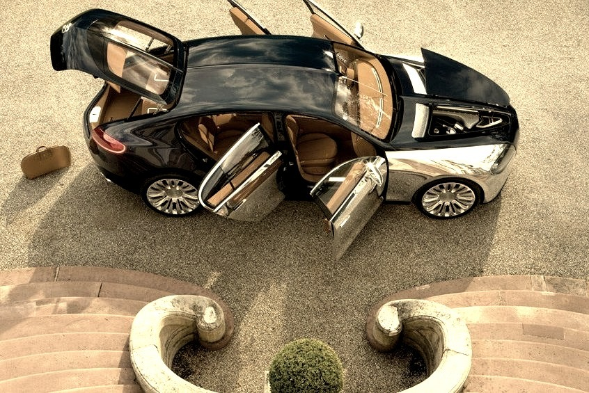 Bugatti Being Loaded All Doors Open