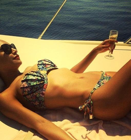 Bikini and Champagne - Yacht Life