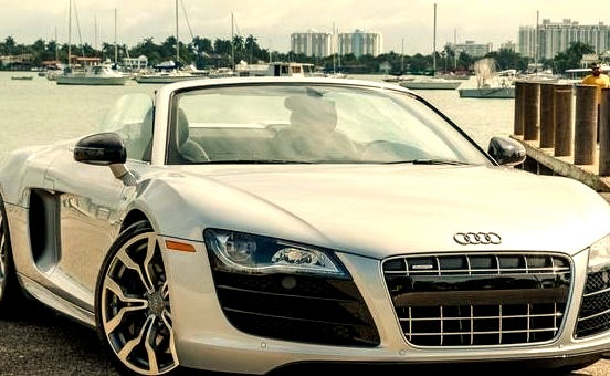 Audi R8 Convertible on the Water