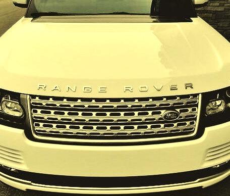 White Land Rover Range Rover Grill