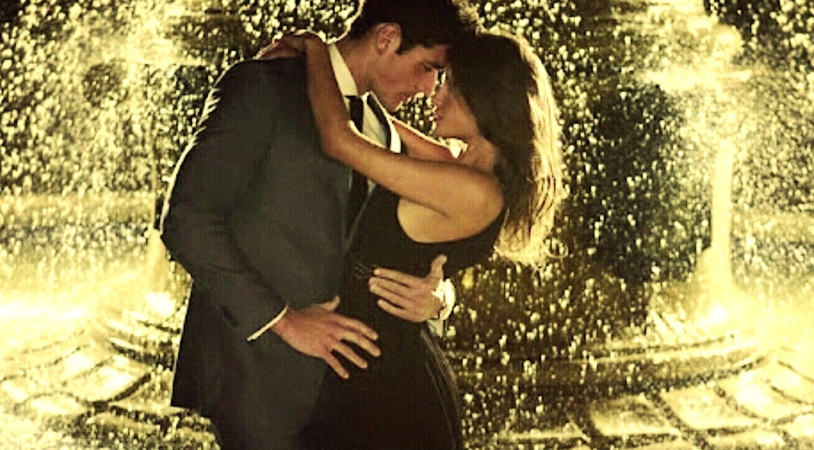 -She put her arms around my neck and looked straight into my eyes, she was teasing me. Then i grabbed her around waist and asked her to dance all night with me.- She charmed me !