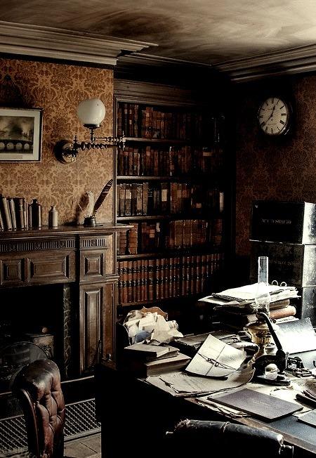Lavish workroom.