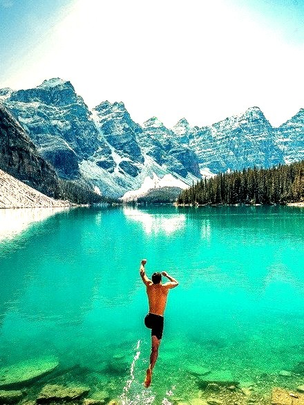 Love places like this. You can swim and ski in one day
